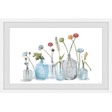 Bottles for the Blooms Framed Printed Wall Art