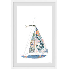 Sailing Mermaid Framed Printed Wall Art