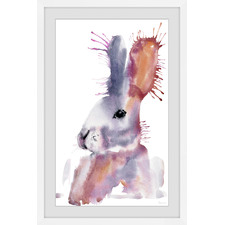 Bunny Smudge Framed Printed Wall Art