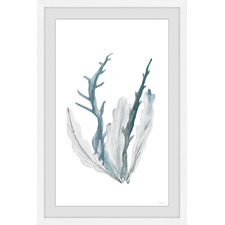 Blue Coral Framed Printed Wall Art