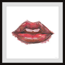Lips & Smudges Framed Printed Wall Art