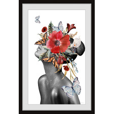 Butterfly Bloom Sight Framed Printed Wall Art