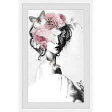 Pink Floral Beauty Framed Printed Wall Art