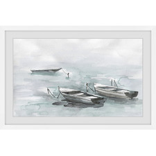 Wooden Boats Framed Printed Wall Art