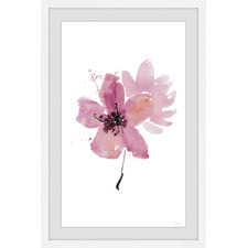 Flower Shadow Framed Printed Wall Art