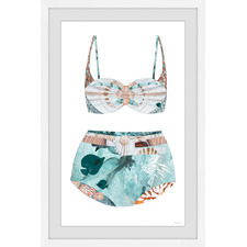 Under the Sea Swimsuit Framed Printed Wall Art