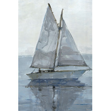 Sailing in Silence Stretched Canvas Wall Art