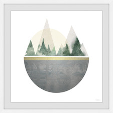 Forest in a Circle Framed Printed Wall Art