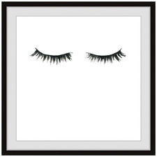 Black Lashes Framed Printed Wall Art