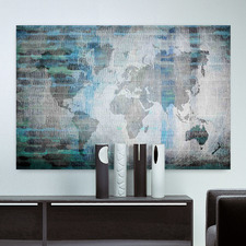The World in Blue Canvas Wall Art