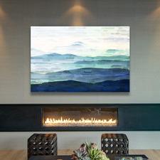 Mountain Tops Art Print on Canvas