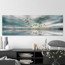 Birds Skylight II Stretched Canvas Wall Art