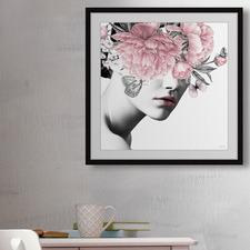 Floral & Lipstick Framed Printed Wall Art