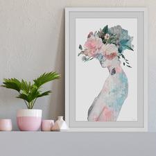Flower & Butterflies II Framed Printed Wall Art