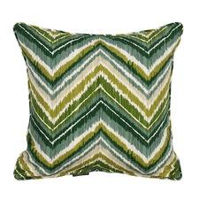 Green Chevron Outdoor Cushion