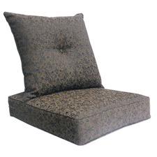 Delta Black Floral Deep Seat Cushion