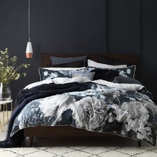 Charcoal Tess Quilt Cover Set
