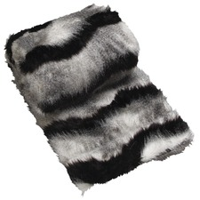 Black Saskia Faux Fur Throw