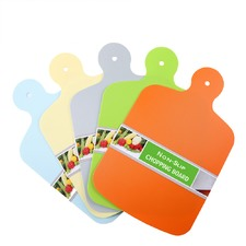 5 Piece Multi-Coloured Flexi Cutting Board Set
