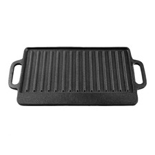 39cm Gourmet Kitchen Cast Iron Grill with Vegetable Oil Coating