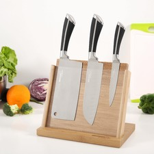 4 Piece Gourmet Kitchen Knife & Magnetic Block Set