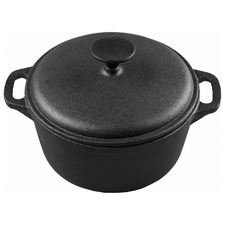 21cm Gourmet Kitchen Cast Iron Casserole with Vegetable Oil Coating