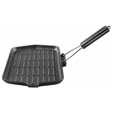 35cm Gourmet Kitchen Cast Iron Grill Pan with Vegetable Oil Coating