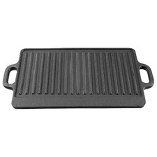 45cm Gourmet Kitchen Cast Iron Grill with Vegetable Oil Coating
