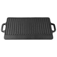 51cm Gourmet Kitchen Cast Iron Grill with Vegetable Oil Coating