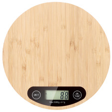 Gourmet Kitchen Round Bamboo Kitchen Scales