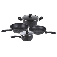 4 Piece Non-Stick Marble-Coated Cookware Set