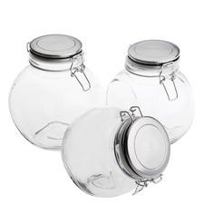 Versatile Airtight Glass Storage Jars (Set of 3)