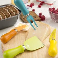 4 Piece Non-Stick Cheese Knife Set