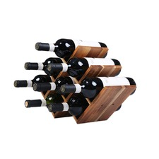 8 Bottle Acacia Wood Wine Rack