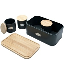 4 Piece Sherwood Bread Box & Canister Set