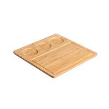 Sherwood Bamboo Serving Platter & Ceramic Dishes Set