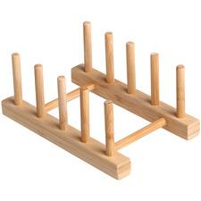 Sherwood Bamboo Plate Racks