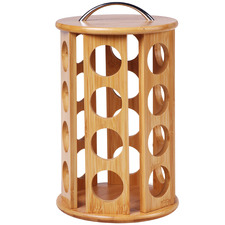 Sherwood 24 Slot Bamboo Coffee Pod Carousel
