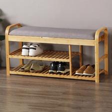 Sherwood Cushioned Shoe Storage Bench