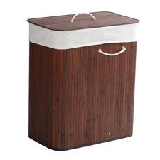 105L Rectangular Folding Bamboo Laundry Basket