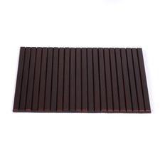 Flexible Bamboo Sofa Armrest Tray with Non-Slip Base