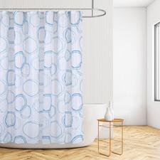 Blue Circles Shower Curtain
