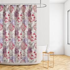 Taupe Fairy Garden Shower Curtain