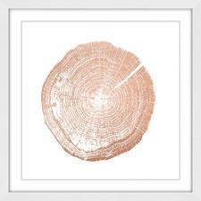 Log Cutout Rose Gold Wall Art