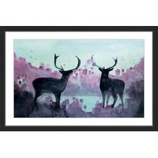 Watercolor Moose Wall Art