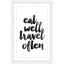 Eat Well Travel Often Wall Art