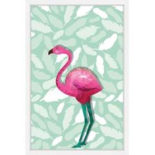 Fuchsia Flamingo Wall Art