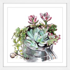 Succulents Framed Painting Print