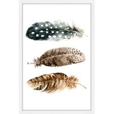 Horizontal Feathers Wall Art