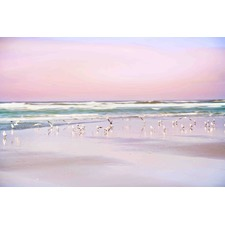 Pastel Beach Canvas Wall Art